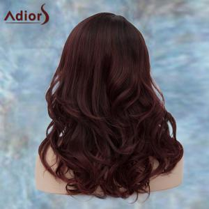 Adiors Long Side Parting Shaggy Wavy Synthetic Wig - COLORMIX