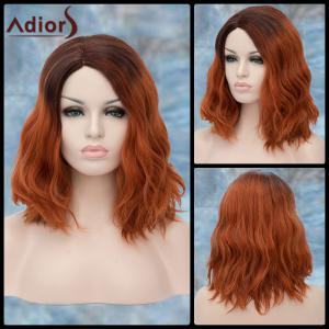 Adiors Medium Side Parting Colormix Wavy Fluffy Synthetic Wig