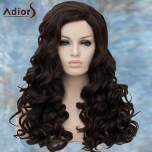 Adiors Long Boutique Wavy Side Parting Synthetic Wig - DEEP BROWN