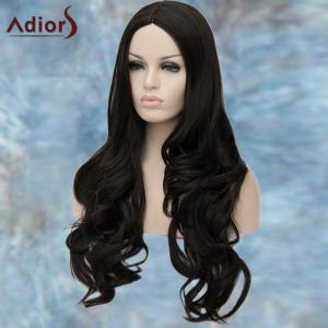 Adiors Long Centre Parting Wavy Synthetic Wig - BLACK