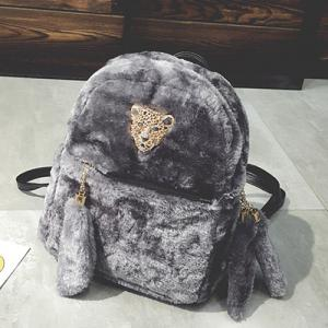 Faux Fur Backpack -