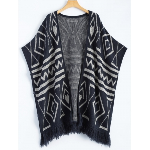 Geometric Knit Cape