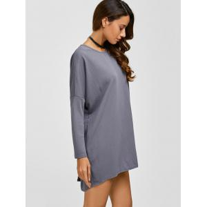 Drop Shoulder Buttoned Textured Dress -