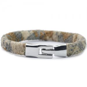 Vintage Camouflage Pattern Artificial Leather Bracelet - COLORMIX