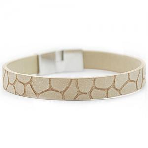Vintage Faux Leather Embellished Bracelet -