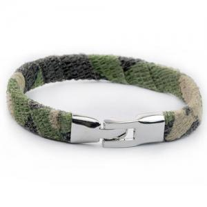 Vintage Camouflage Design Artificial Leather Bracelet - CAMOUFLAGE COLOR
