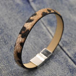 Leopard Print PU Leather Bracelet