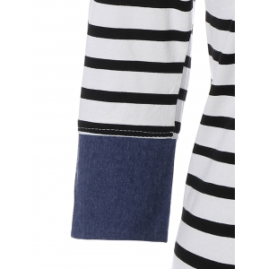 Mini Striped Tee Dress with Sleeves - STRIP PATTERN XL