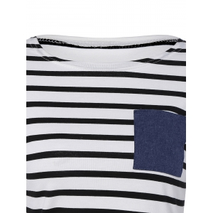 Stripe Pattern T-Shirt Dress - STRIP PATTERN XL