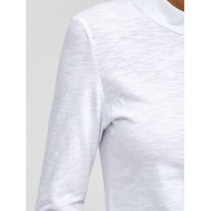 Button Embellished Slimming Tee -