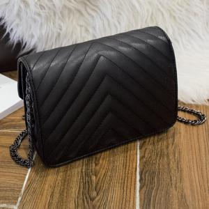 Quilted Chains Crossbody bag - BLACK