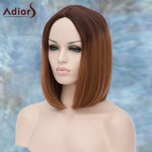 Adiors Medium Centre Parting Ombre Straight Synthetic Wig - COLORMIX