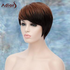 Adiors Short Highlight Side Bang Straight Synthetic Wig - COLORMIX