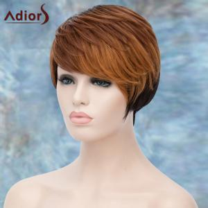 Adiors Short Layered Highlight Side Bang Straight Synthetic Wig -