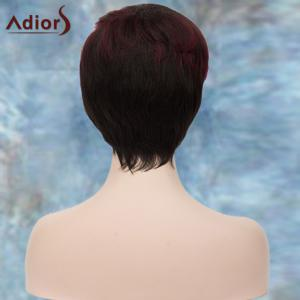 Adiors Short Highlight Shaggy Side Bang Straight Synthetic Wig -