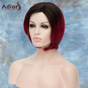 Adiors Short Side Parting Silky Straight Ombre Bob Synthetic Wig -