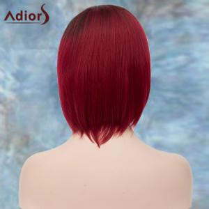 Adiors Short Side Parting Silky Straight Ombre Bob Synthetic Wig - COLORMIX
