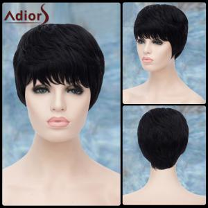 Adiors Short Full Bang Layered Straight Synthetic Wig