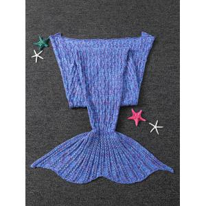 Warmth Cable Knitted Mermaid Tail Shape Blanket -