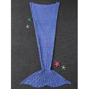 Warmth Cable Knitted Mermaid Tail Shape Blanket