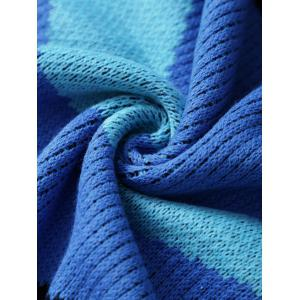 Comfortable Wide Stripes Knitted Mermaid Tail Blanket - COLORMIX