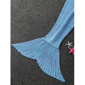 Warmth Buttons Design Knitted Mermaid Tail Blanket -