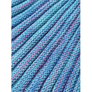 Warmth Buttons Design Knitted Mermaid Tail Blanket - AZURE