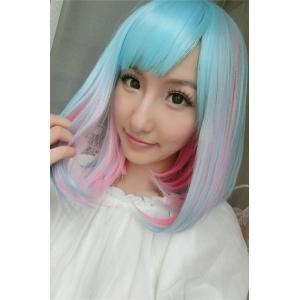 Medium Side Bang Colored Straight Lolita Synthetic Wig -