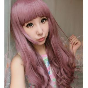 Long Full Bang Curly Cosplay Lolita Synthetic Wig