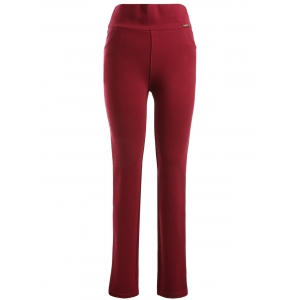 Plus Size Pocket Skinny Leggings