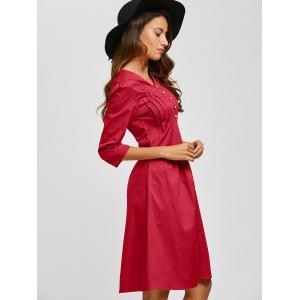 V Neck Swing Vintage Dress -