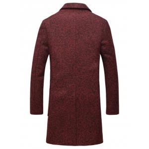 Lapel Flap Pocket Tweed Wool Mix Coat -