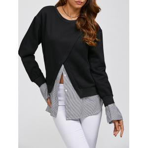 Shirt Insert Layered Sweatshirt