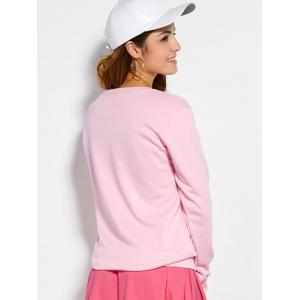 Pullover Sweatshirt With Text - PINK M