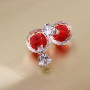 Artificial Gem Ball Earrings