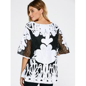 Openwork Embroidery Vintage Blouse -