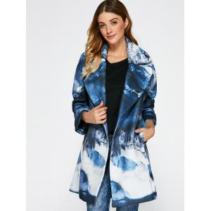 Chinese Painting Woolen Blend Coat -