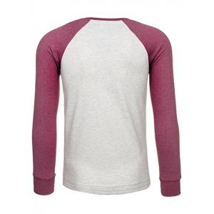 Crew Neck Raglan Sleeve Embroidered T-Shirt -