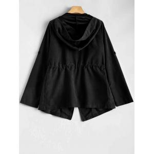 Hooded Drawstring Design Jacket -