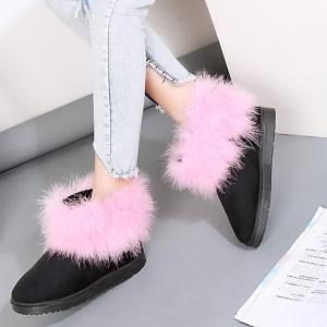 Ankle Flocking Snow Boots -