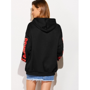 Front Pocket Oversized Hoodie - BLACK ONE SIZE