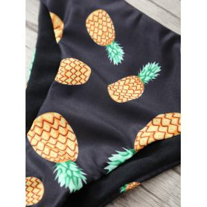 Pineapple Print Halter Cute Bathing Suit -