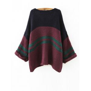 Color Block Loose Chunky Jumper -