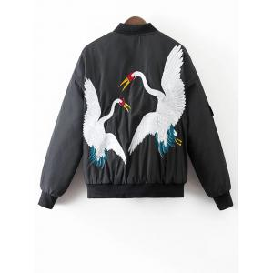 Crane Embroidered Souvenir Jacket -