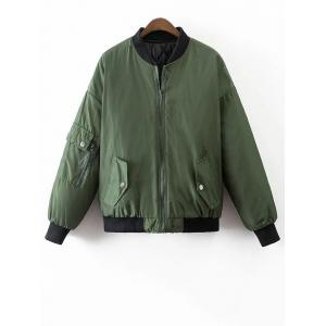 Crane Embroidered Souvenir Jacket - Green - M