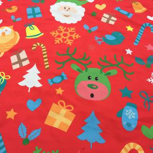 Christmas Elements Print Round Beach Throw - RED ONE SIZE