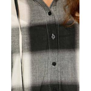 Button Up Plaid Hoodie -