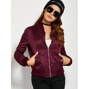 Zippered Bomber Jacket -