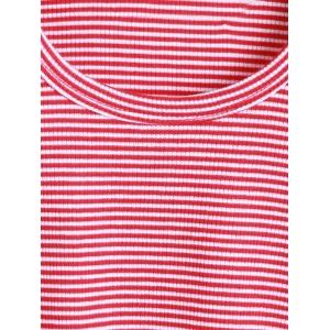 Alien Embroidered Striped Cropped T-Shirt -