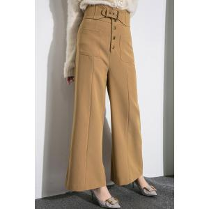 Belted Middle Waist Palazzo Pants